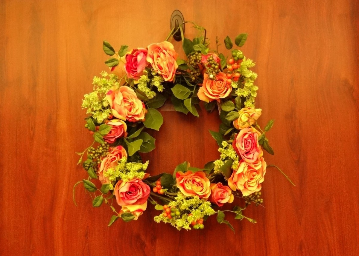 A special decoration or floral arrangements hanging on the resident's door helps them find their way home.