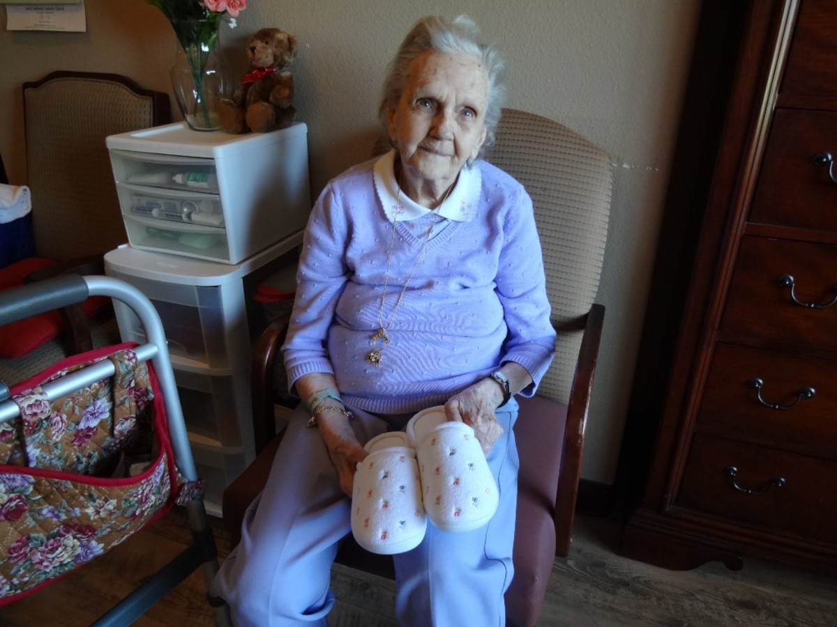 House slippers are welcomed gifts. Make sure they have rubber soles to help prevent falls.