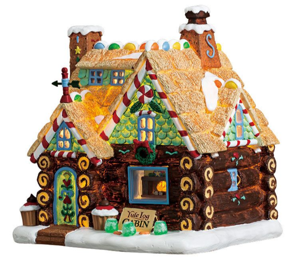 Yule Log Cabin from the Sugar N Spice Collection.
