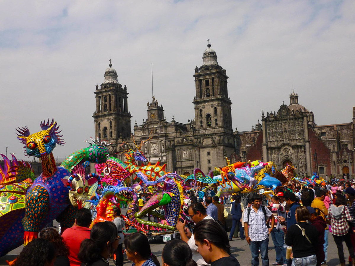 This Day of the Dead celebration in Mexico City.