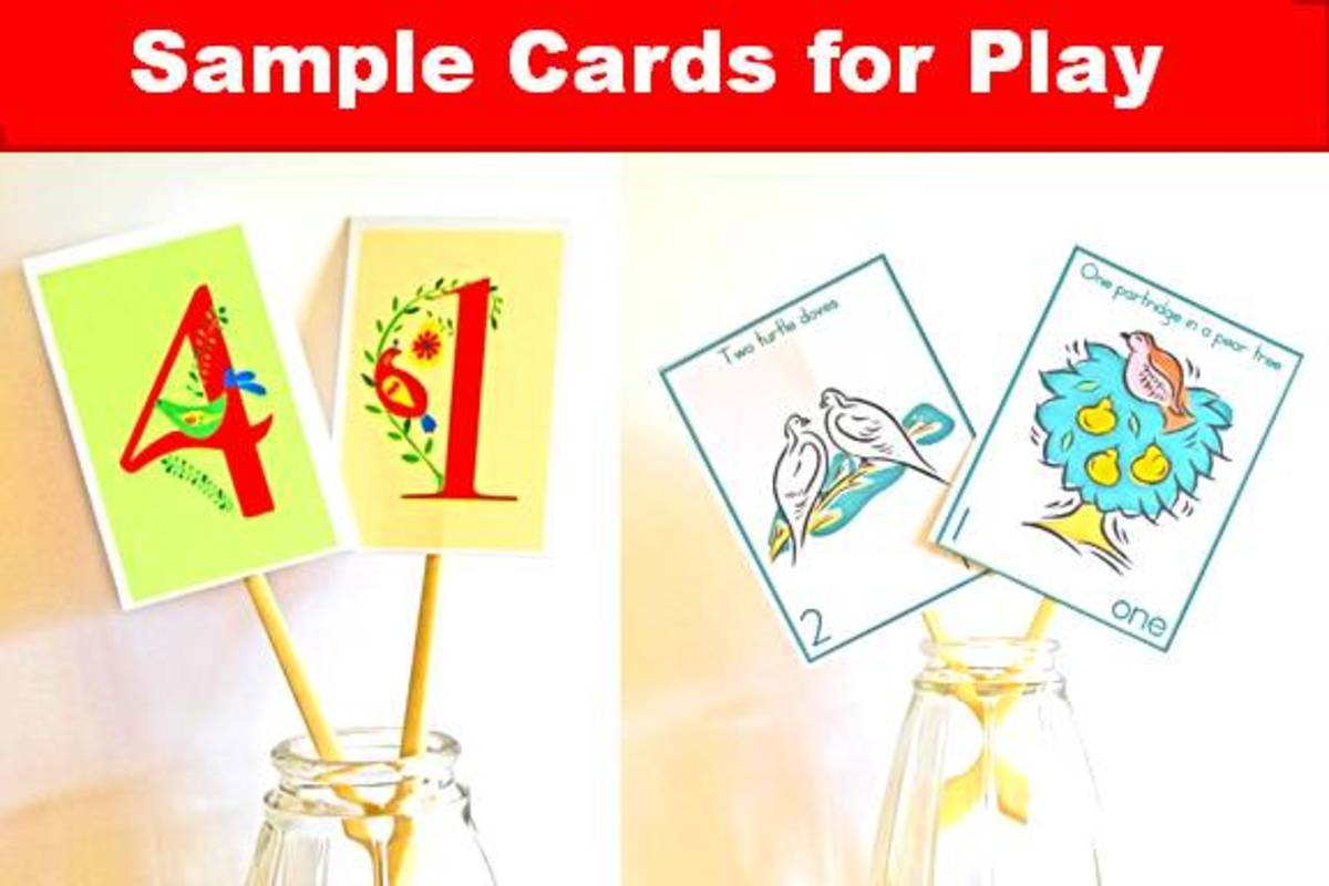 Here are some examples of some cards you can use for the play. Print them on card stock, then attach them to a rod.