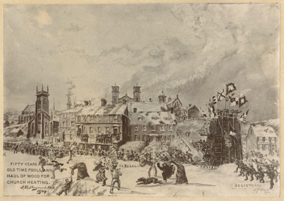 Mummering in St. John's, Newfoundland, circa 1860