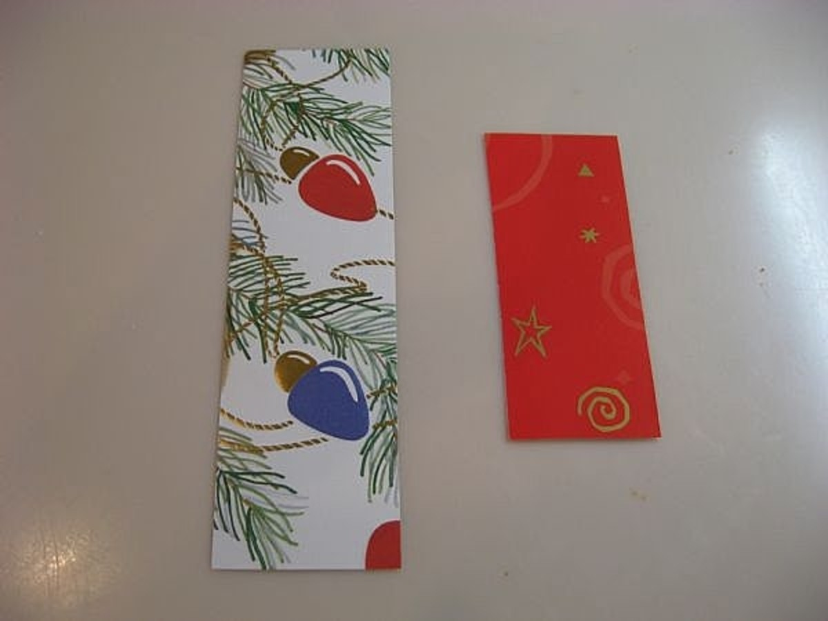 Short or long, bookmarks come in various sizes. I like to make mine short enough to go inside the Christmas cards that I'll send out next December.