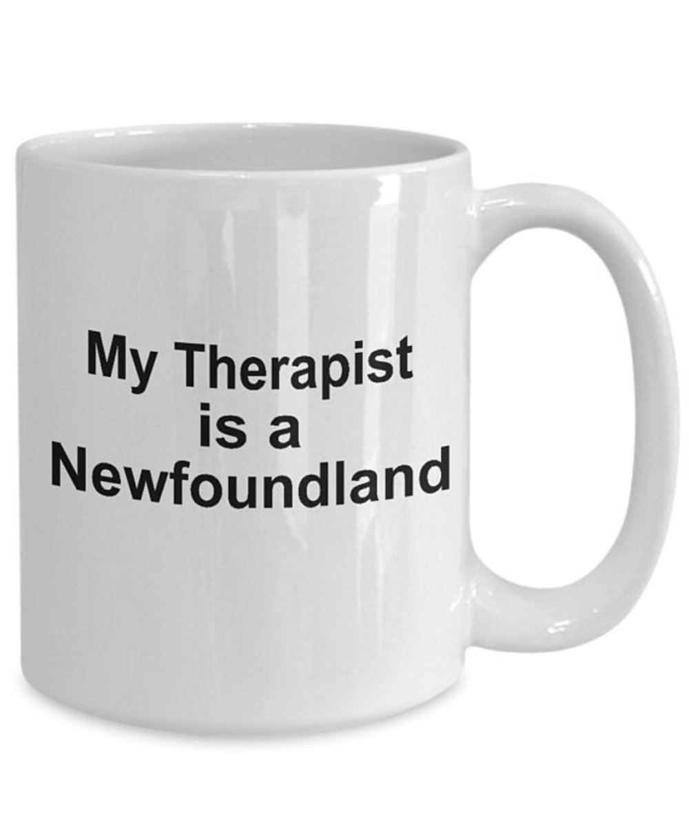 My Therapist is a Newfoundland Mug