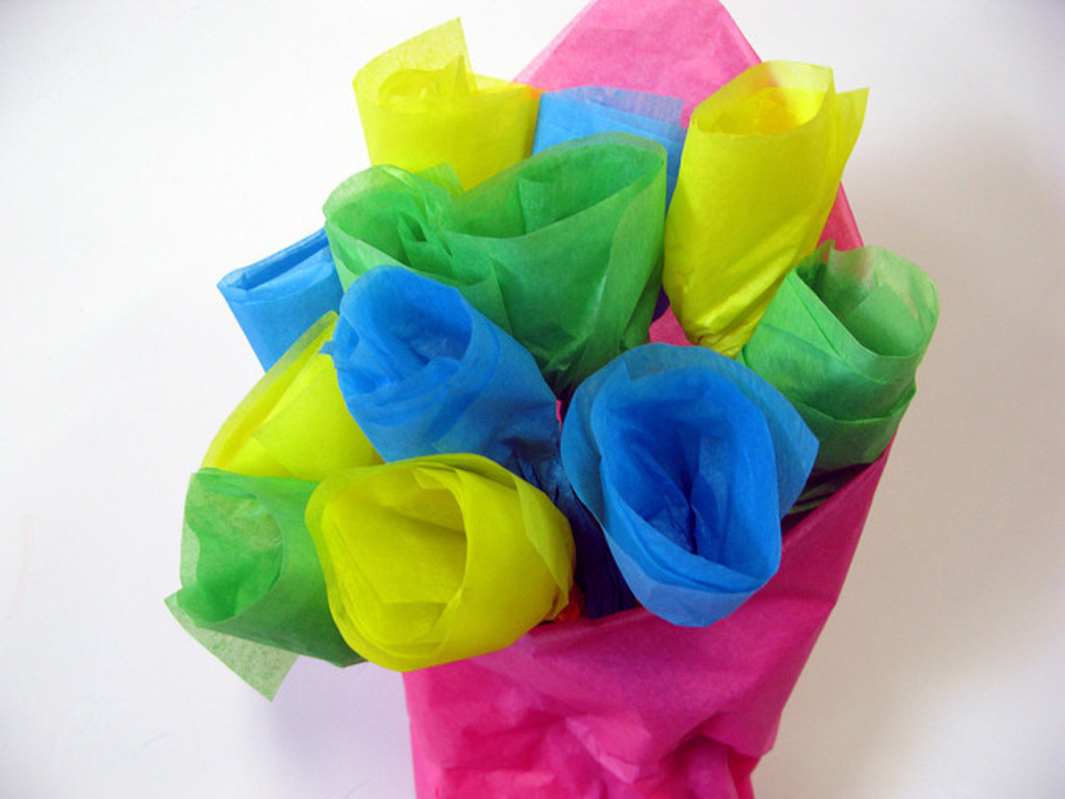 Tissue paper flowers are easy for kids to make, and won't trigger any allergies either.