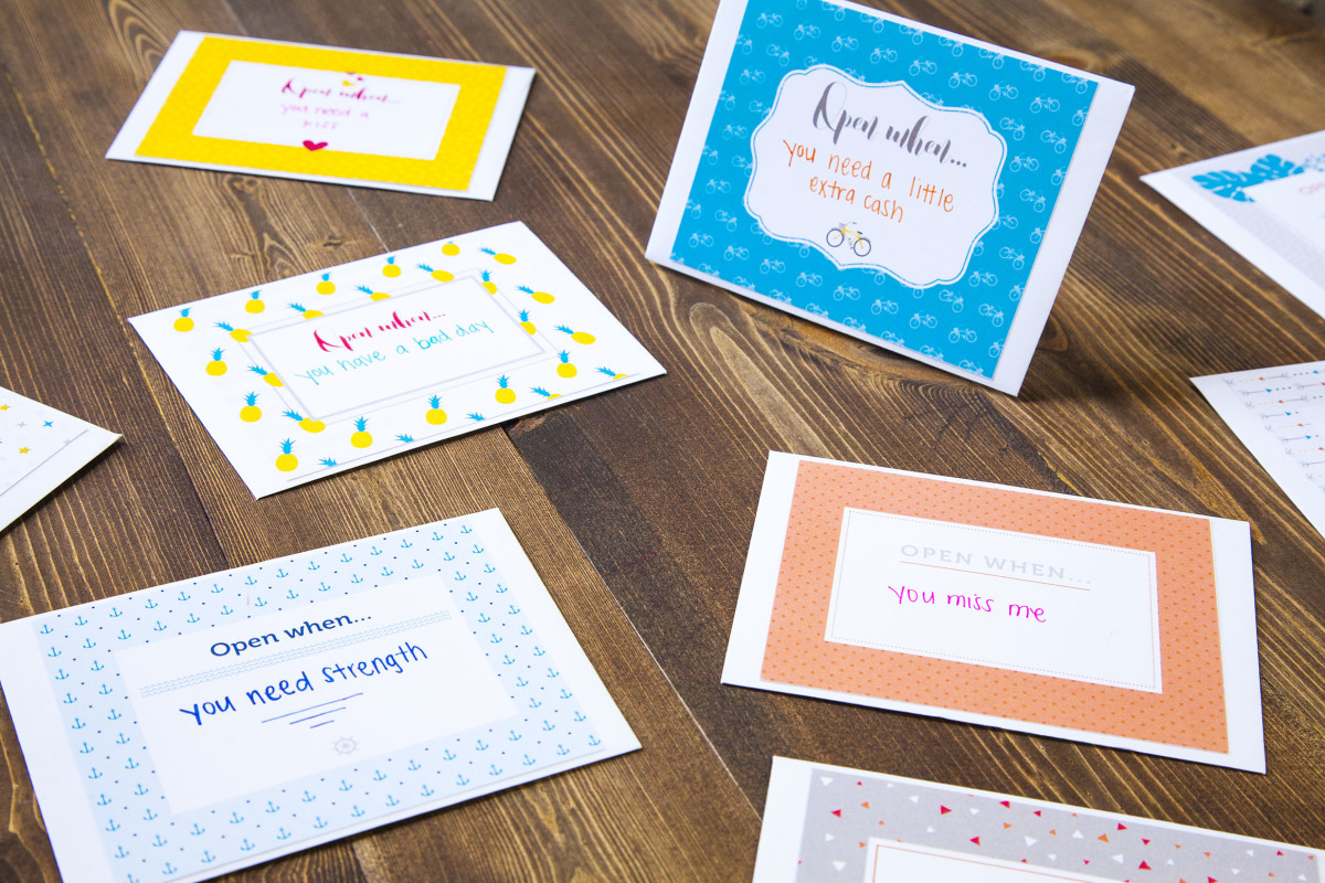 Letters for Dad's child to open at different ages. Great for bonding!