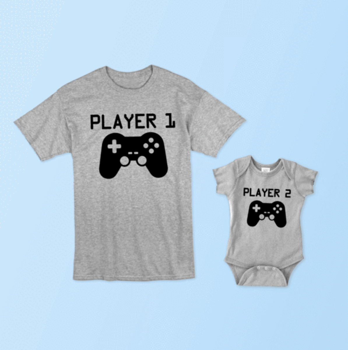 Player One Tee Shirt and Onesie set