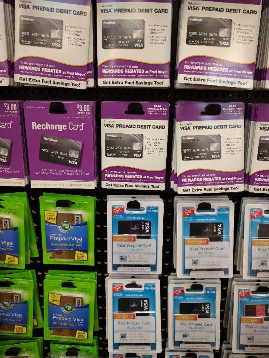 Prepaid Cash cards at Fred Meyer