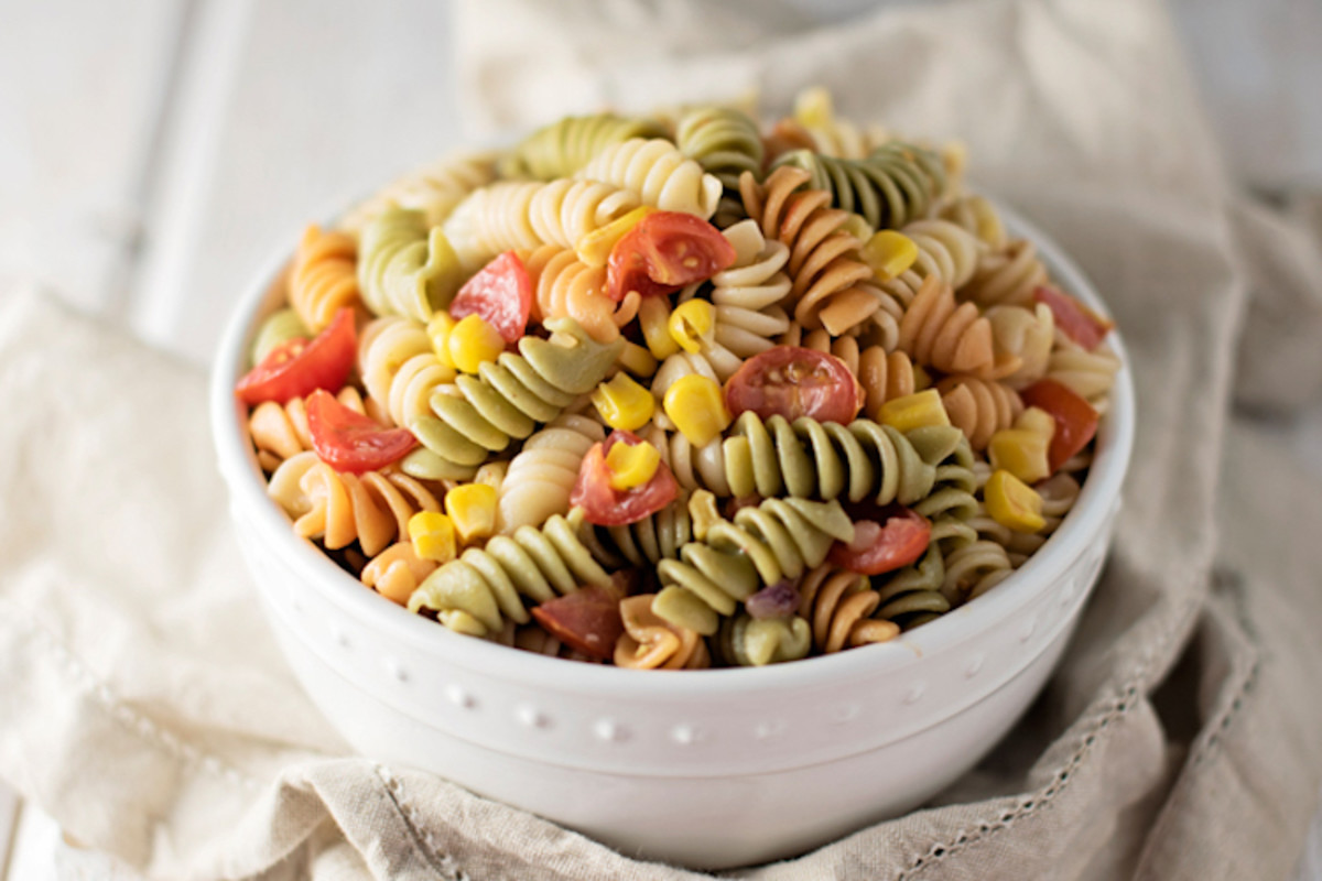 Make this tri-color pasta salad in honor of National Pasta Day