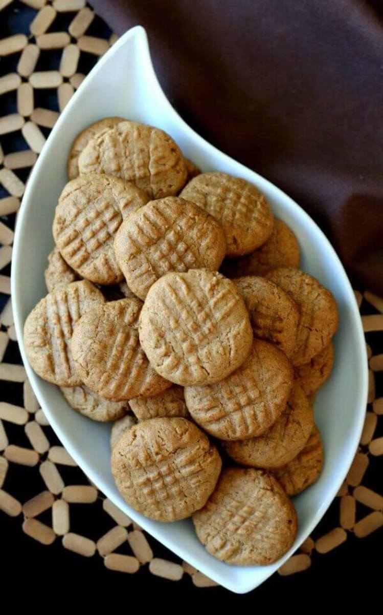 Whip up a batch of simple peanut butter cookies to share today