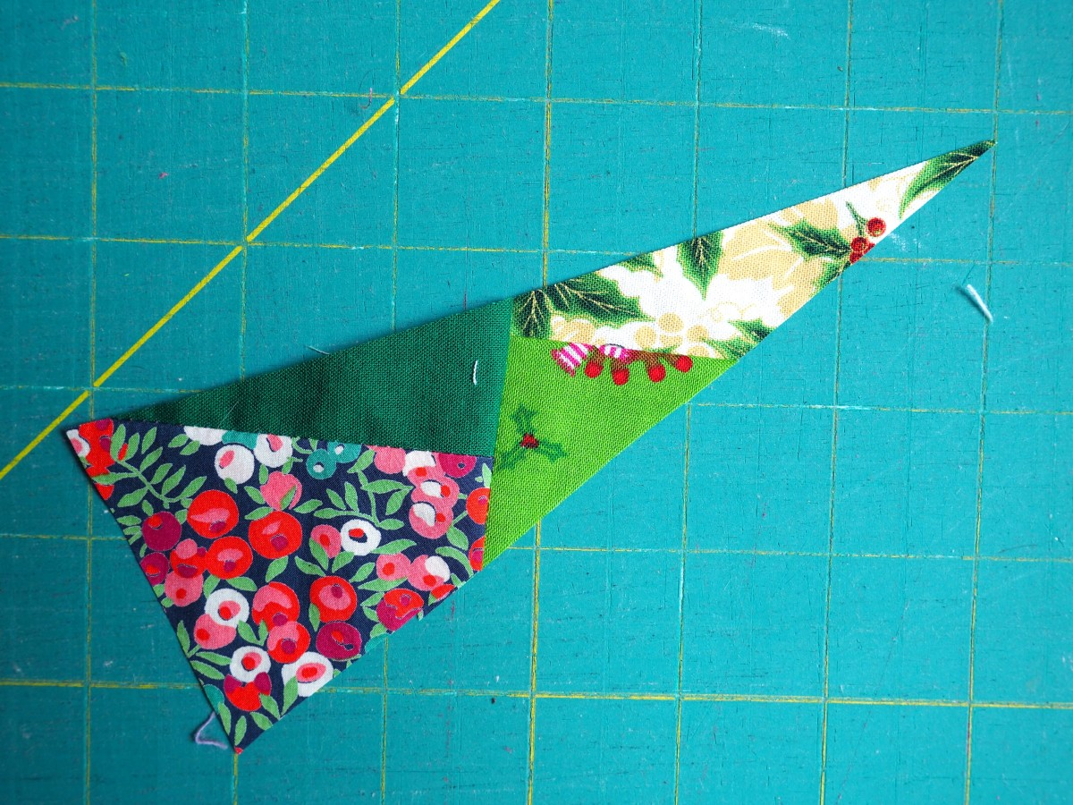 The finished shape, ready to be sewn to the card stock.