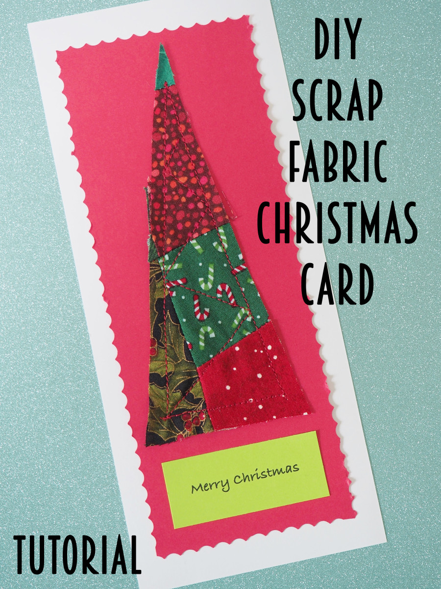 With a little preparation, I can make one of these cute DIY fabric scrap Christmas cards in about 15 minutes.  This tutorial shows you how.