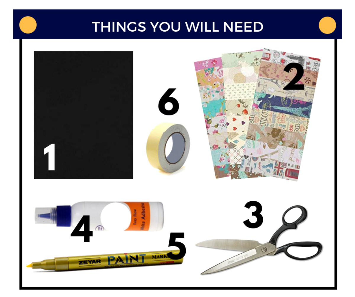 Things You'll Need for Make A Wish Greeting Card
