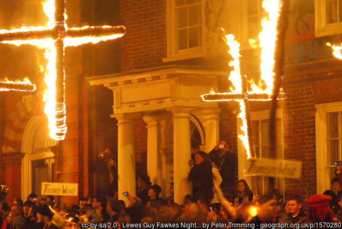 The biggest celebrations of Guy Fawkes Night take place at Lews