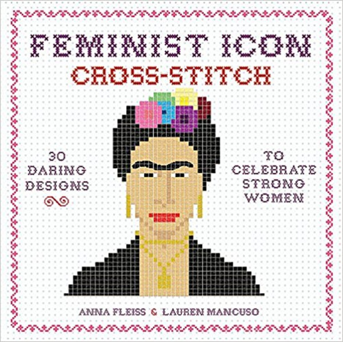"""Feminist Icon Cross-Stitch""—a great gift idea for Democrat and feminist moms."