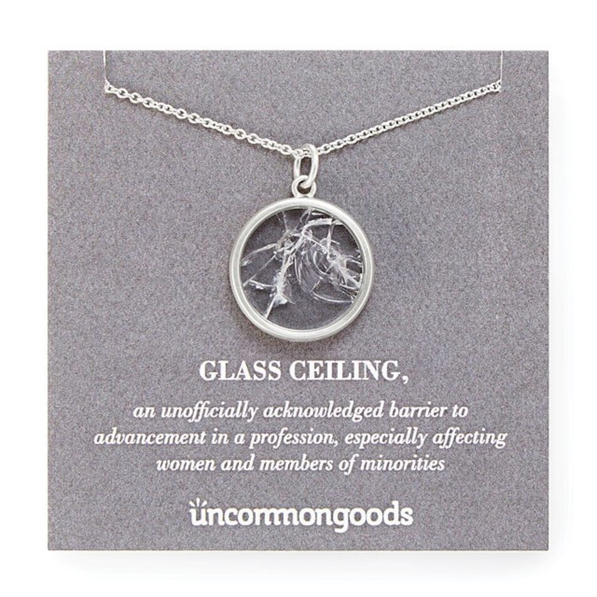 Glass ceiling necklace for liberal, feminist moms.