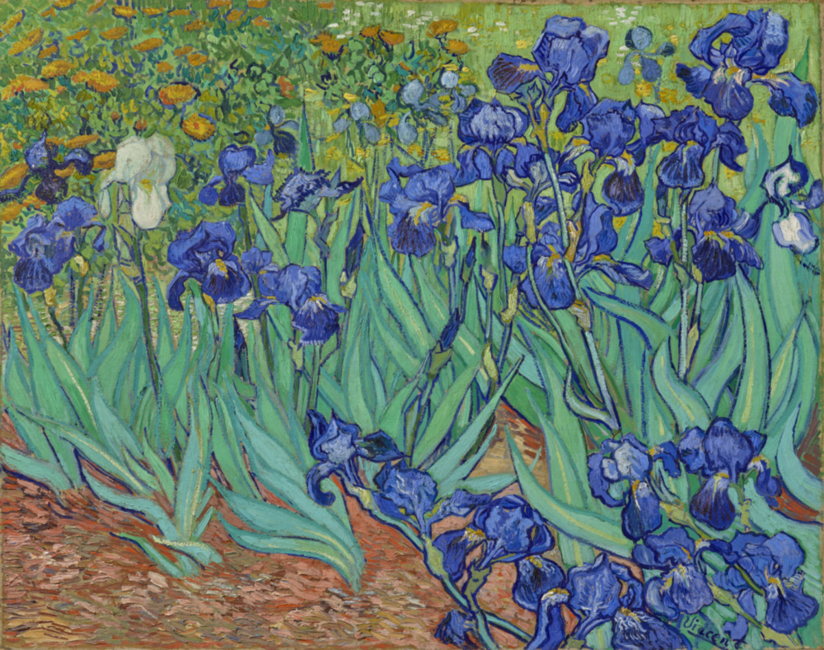 Vincent van Gogh (Dutch, 1853 - 1890) Irises, 1889, Oil on canvas 74.3 × 94.3 cm (29 1/4 × 37 1/8 in.), 90.PA.20 The J. Paul Getty Museum, Los Angeles