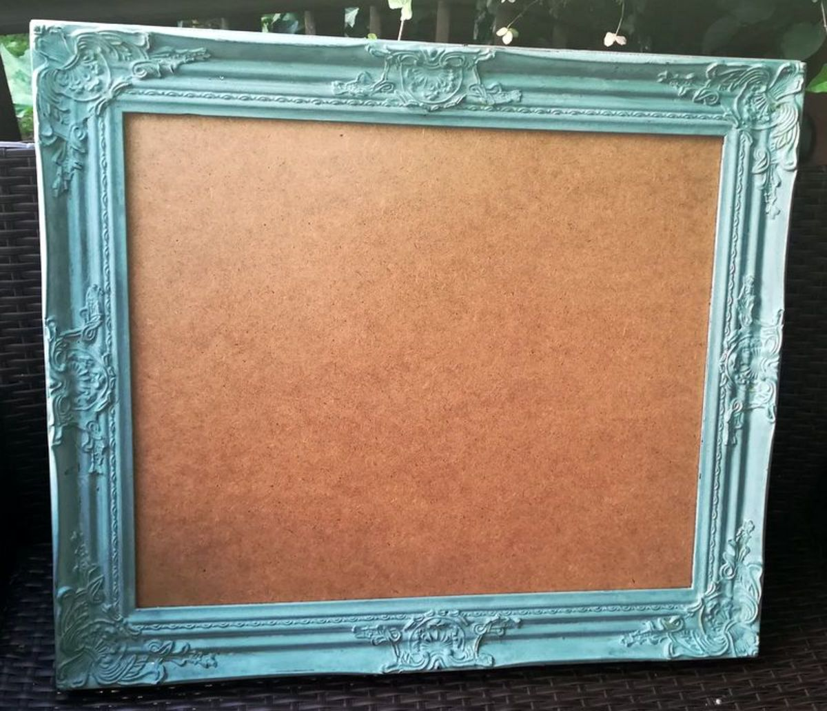 This is the frame I used as the backdrop for my DIY skull decoration.
