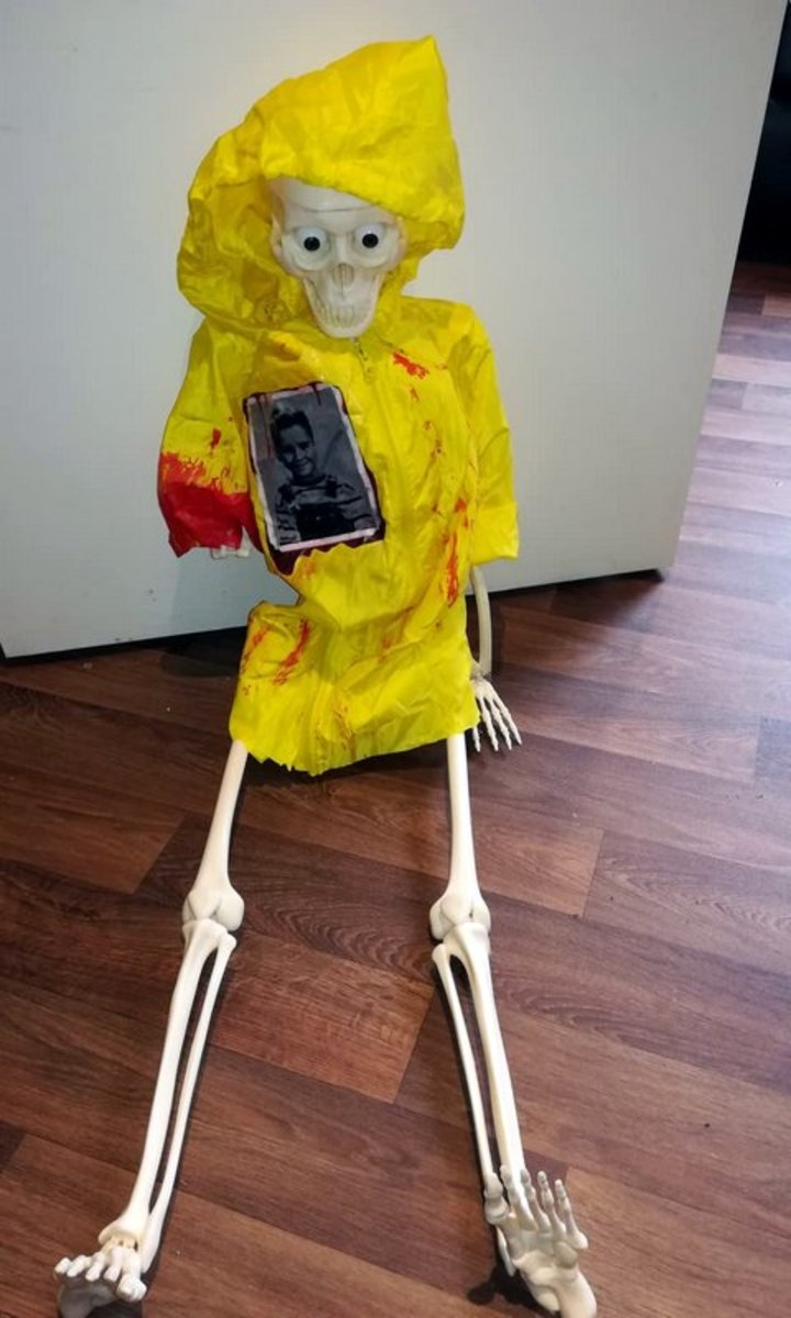 Georgie skeleton from the scary movie 'It'