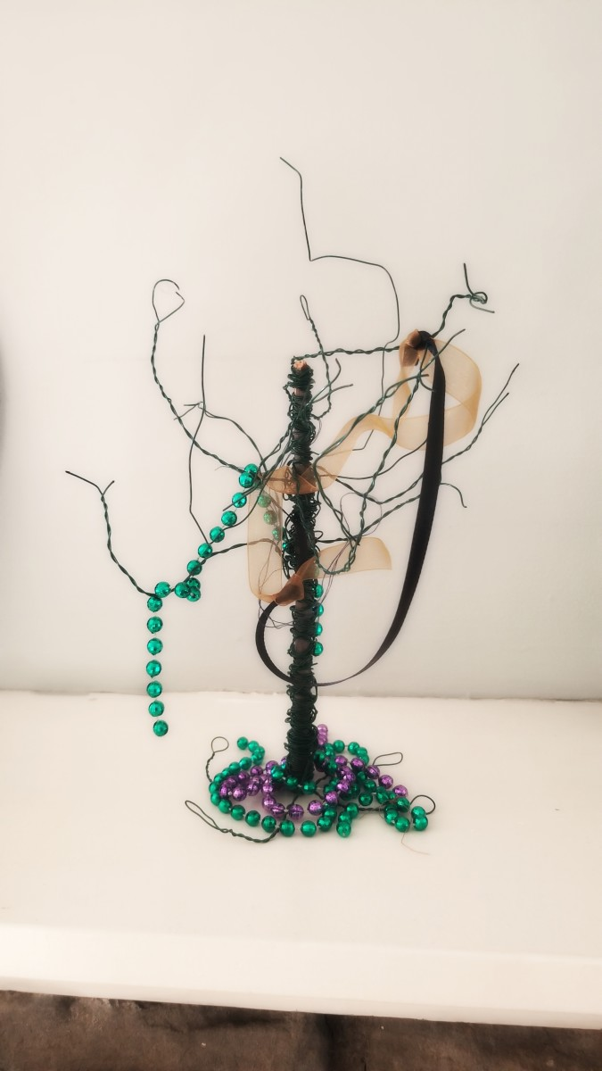 A creative spooky tree. This is my favorite decoration!