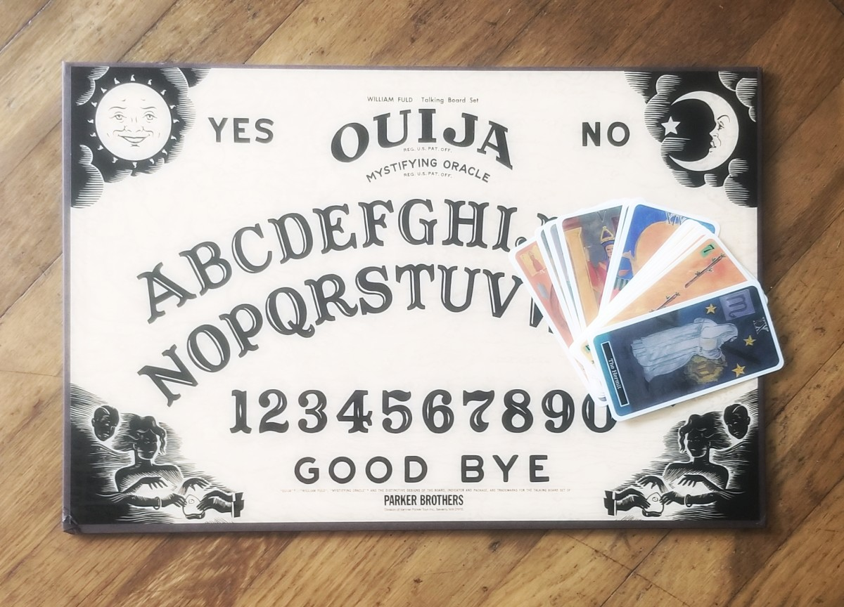 Dust off your childhood Ouija board and use it in your Halloween decor!