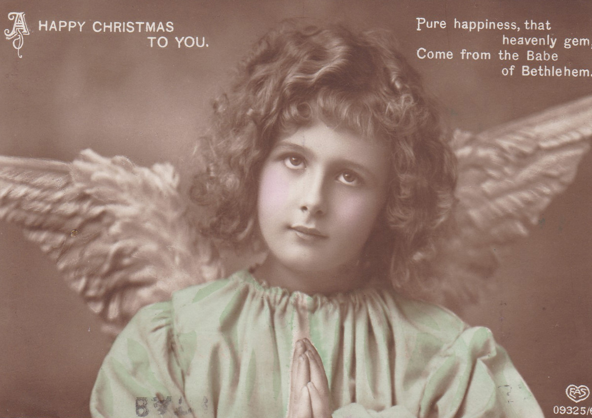 British and American Santas are typically accompanied by elves or, sometimes, angels.