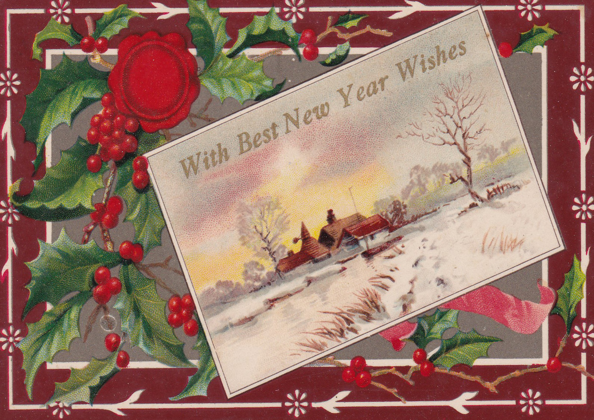 A Christmas and New Year's card from 1915.