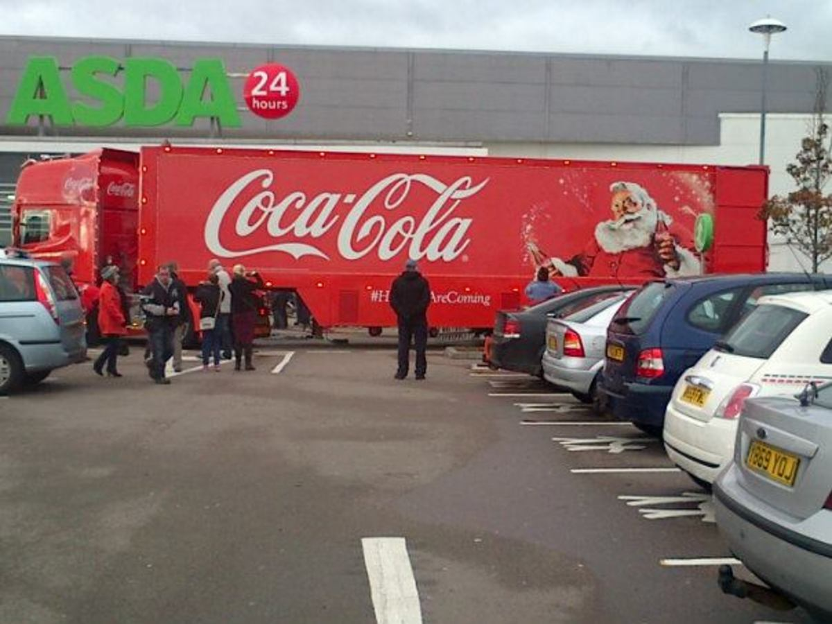 The Coca-Cola Christmas Truck is a well-known sight during the festive period.