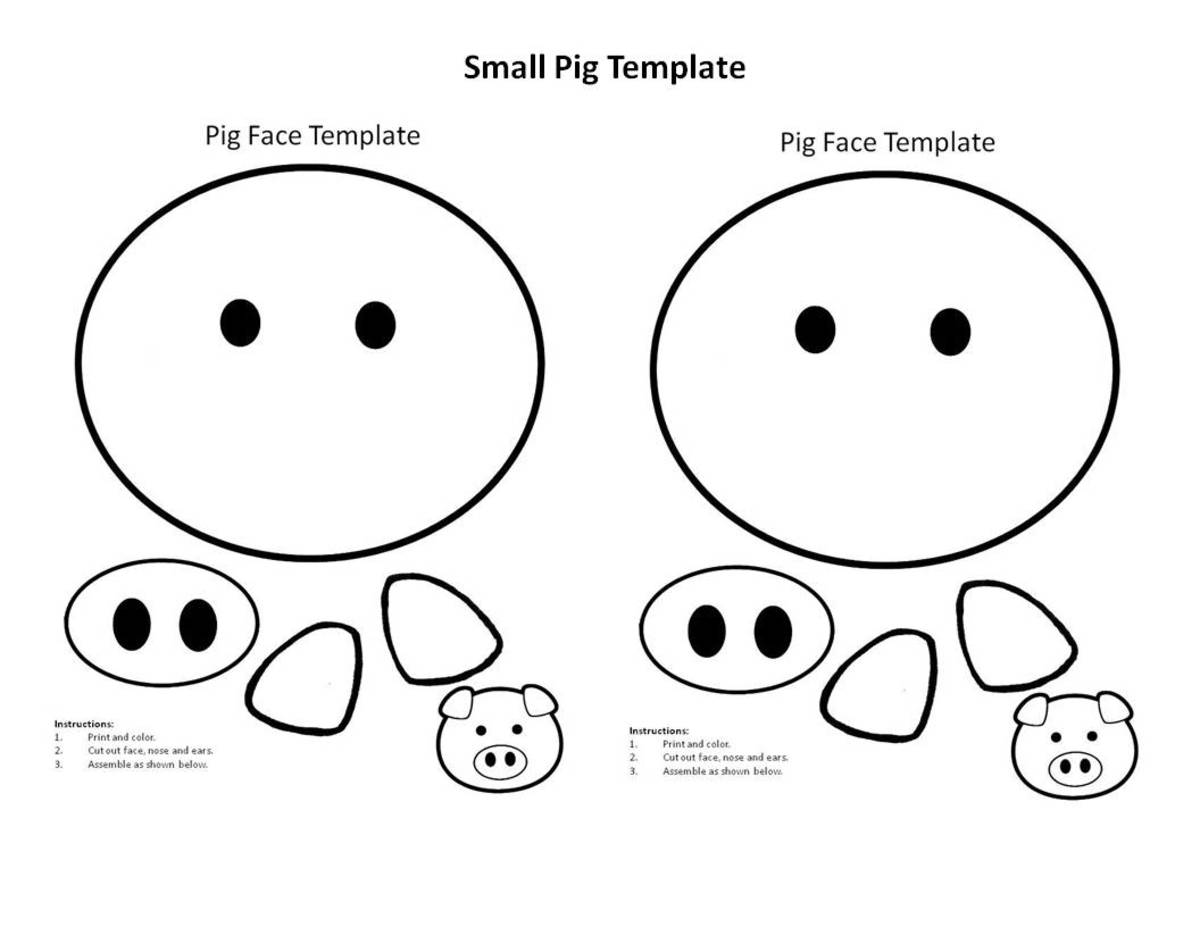 image about Printable Pig called Very simple Printable Tasks for the Calendar year of the Pig: Boy or girl Crafts