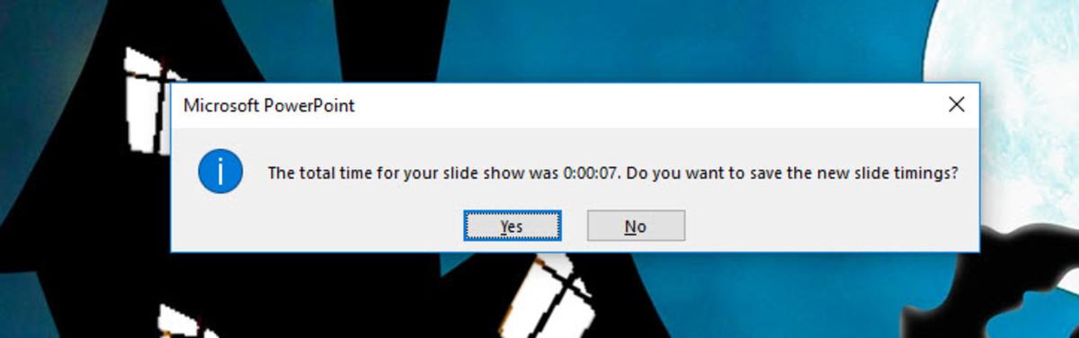 Saving Your Slide Show Timings