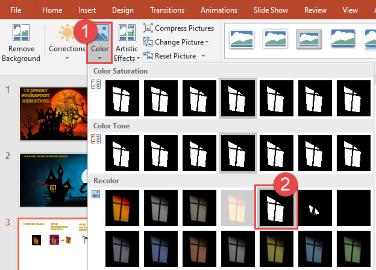 PowerPoint Format Color Options