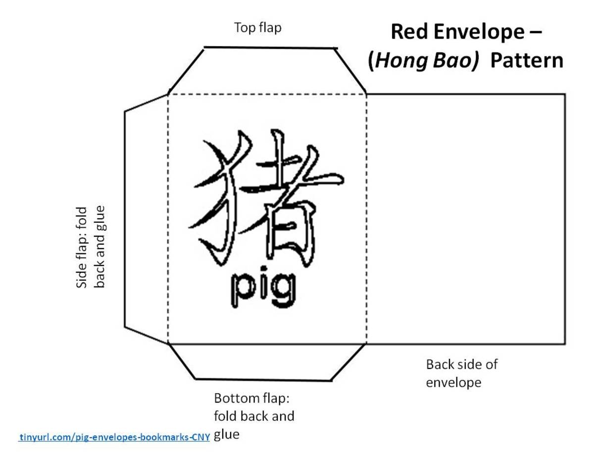 Envelope with Chinese character for pig