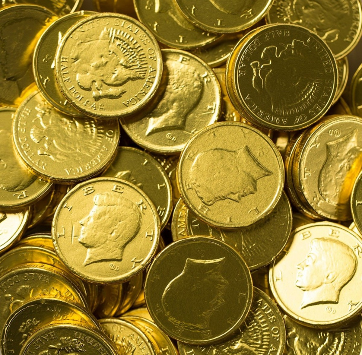 Here are the chocolate coins that have worked out well for me to give to large groups.