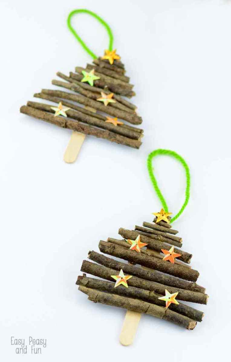 Children will enjoy both gathering the twigs for these trees and putting them together.