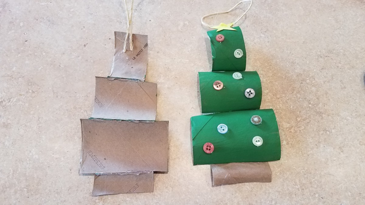 Even toilet paper rolls can be turned into a holiday craft.