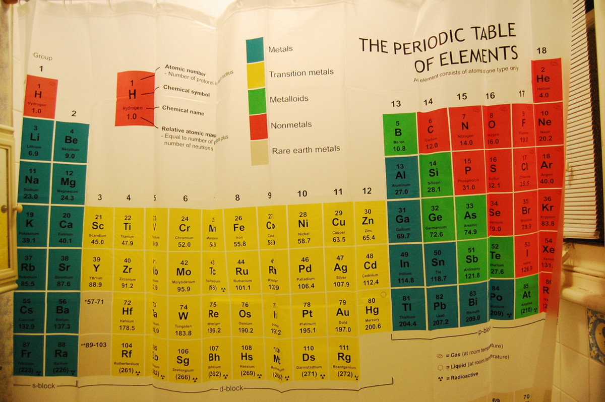 This unique shower curtain is a fun but practical gift for science nerds.