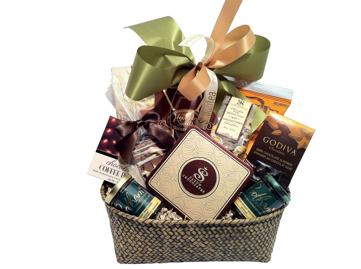 Buy gift baskets if you want to pay a fortune for a collection of half-empty boxes and Easter grass.