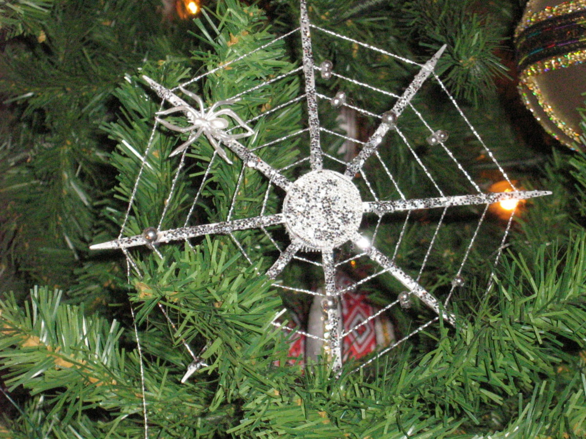 A Christmas web and spider ornament might look something like this.
