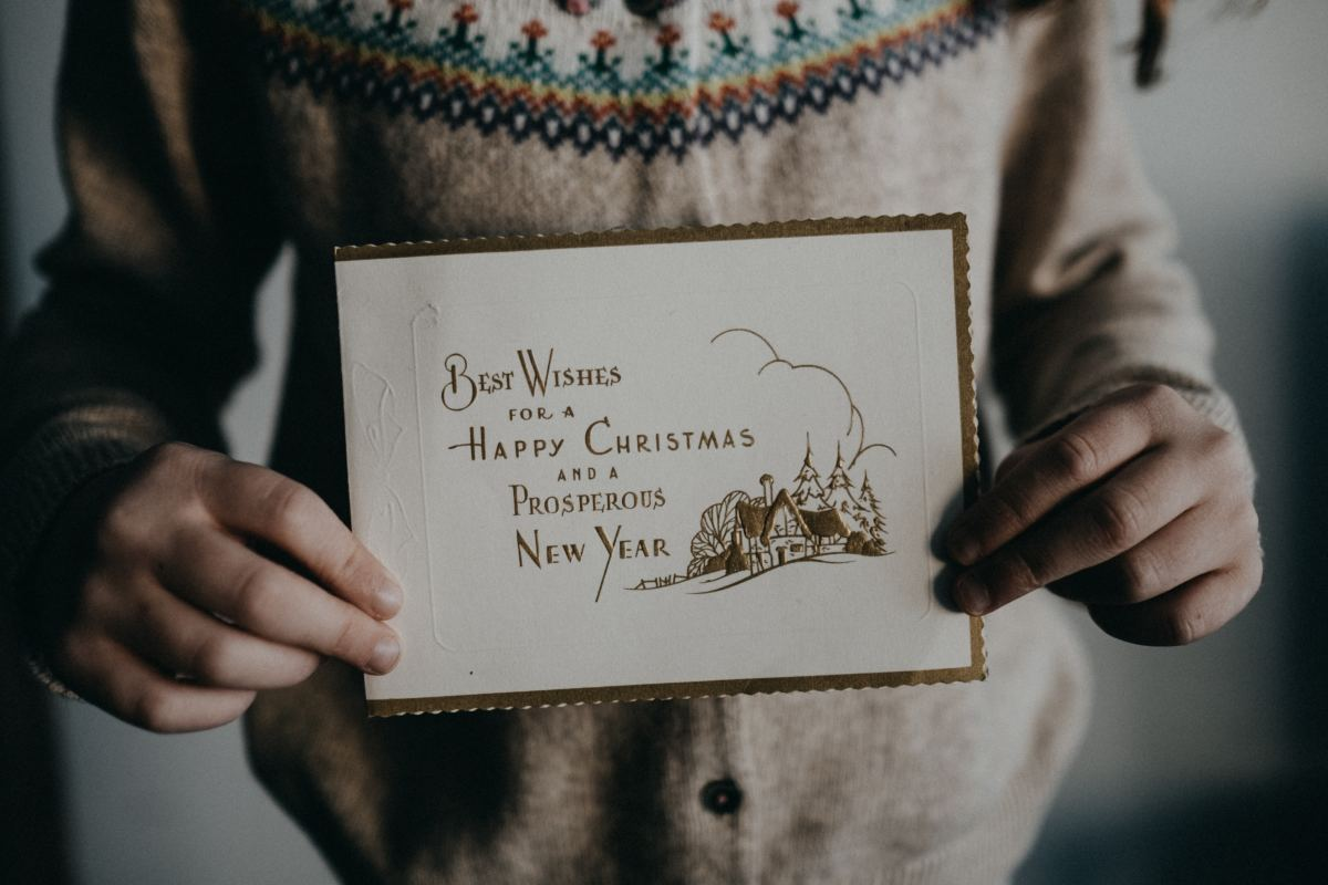 When displayed around the house, physical Christmas cards are a tangible reminder of the loved ones who sent them.