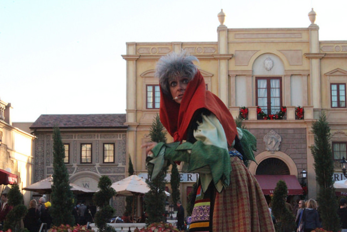 La Befana is typically pictured as an old woman.