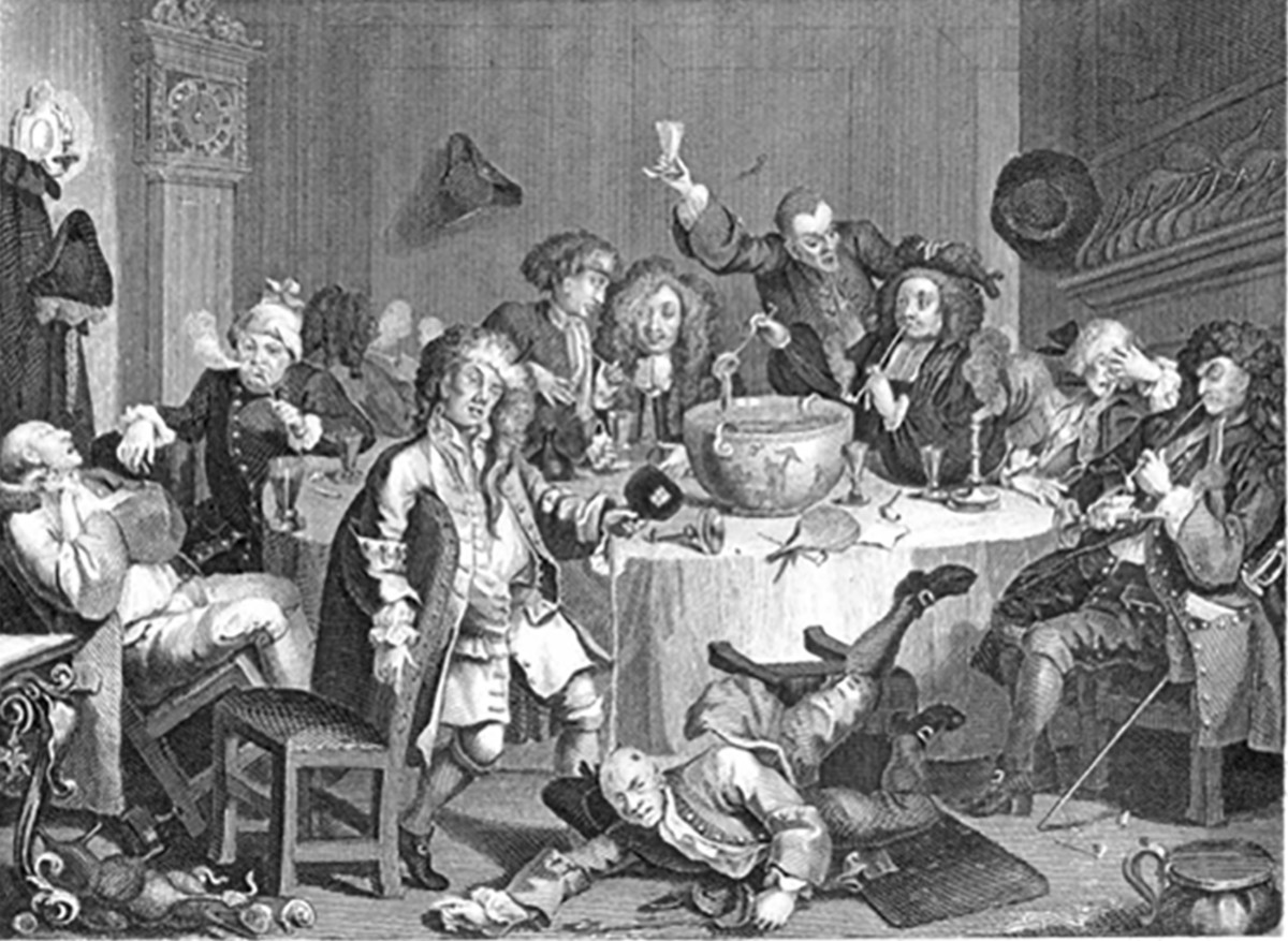 This is an artist's rendering of a 19th century Tibb's Eve celebration.