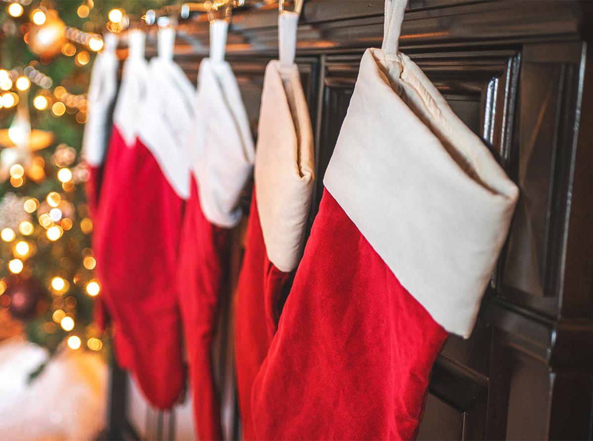 Modern Christmas stockings often look like ornate and oversized socks.