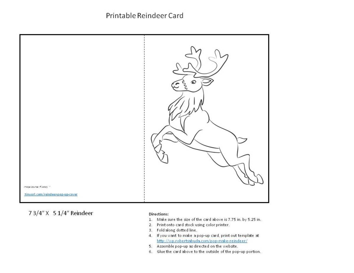 Jumping Reindeer to Color