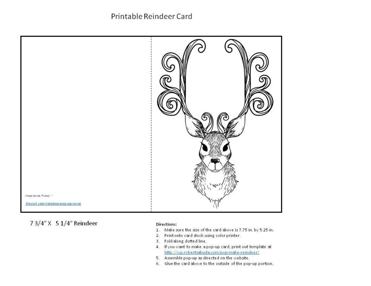 Reindeer to Color