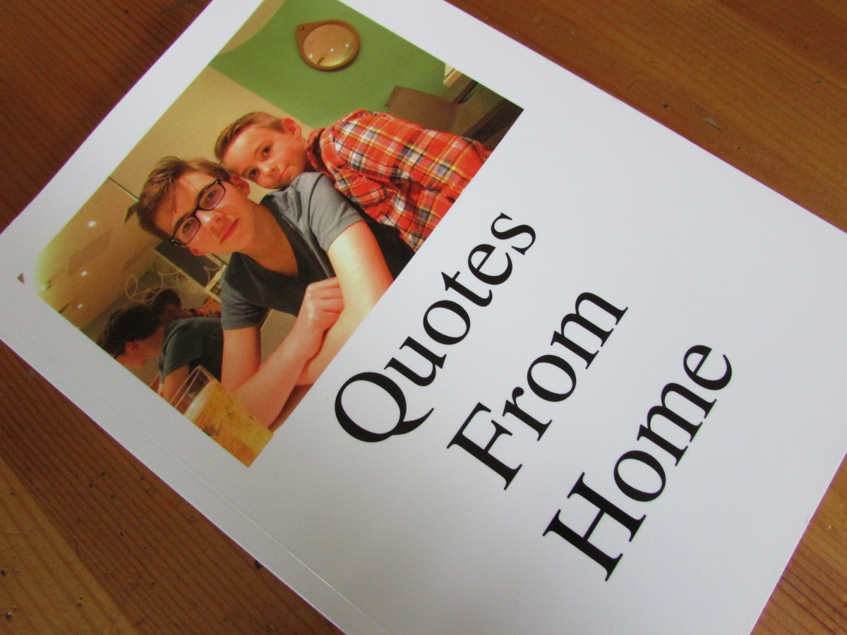 The quote book I made - it's a mixture of funny comments and photos of my sons