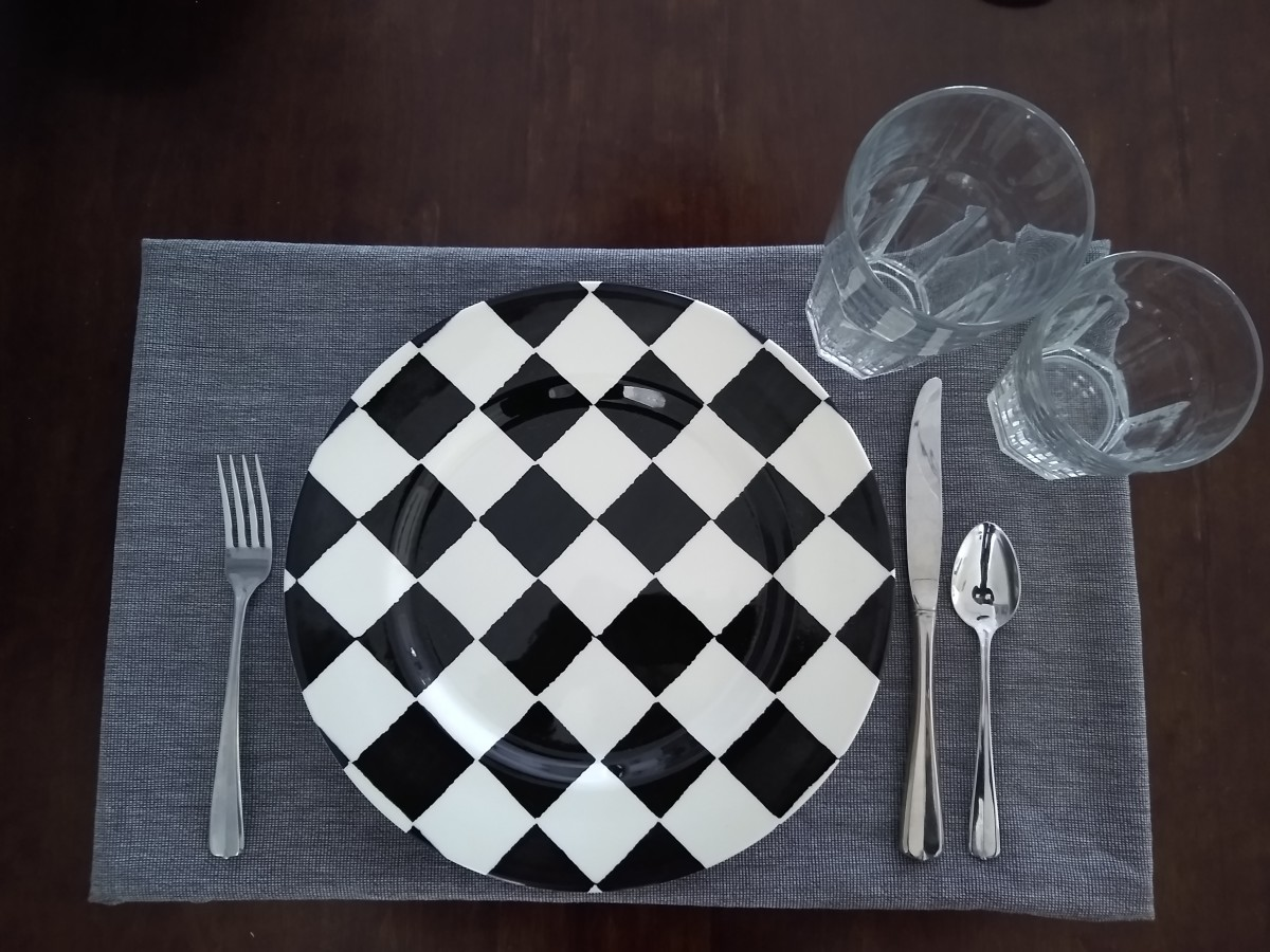 This is the basic table setting for your everyday family meal.