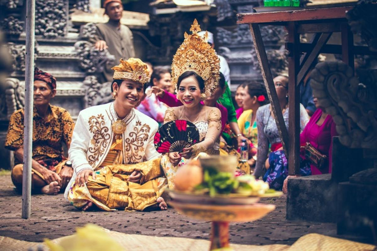 A beautiful bride and groom in Bali, Indonesia.