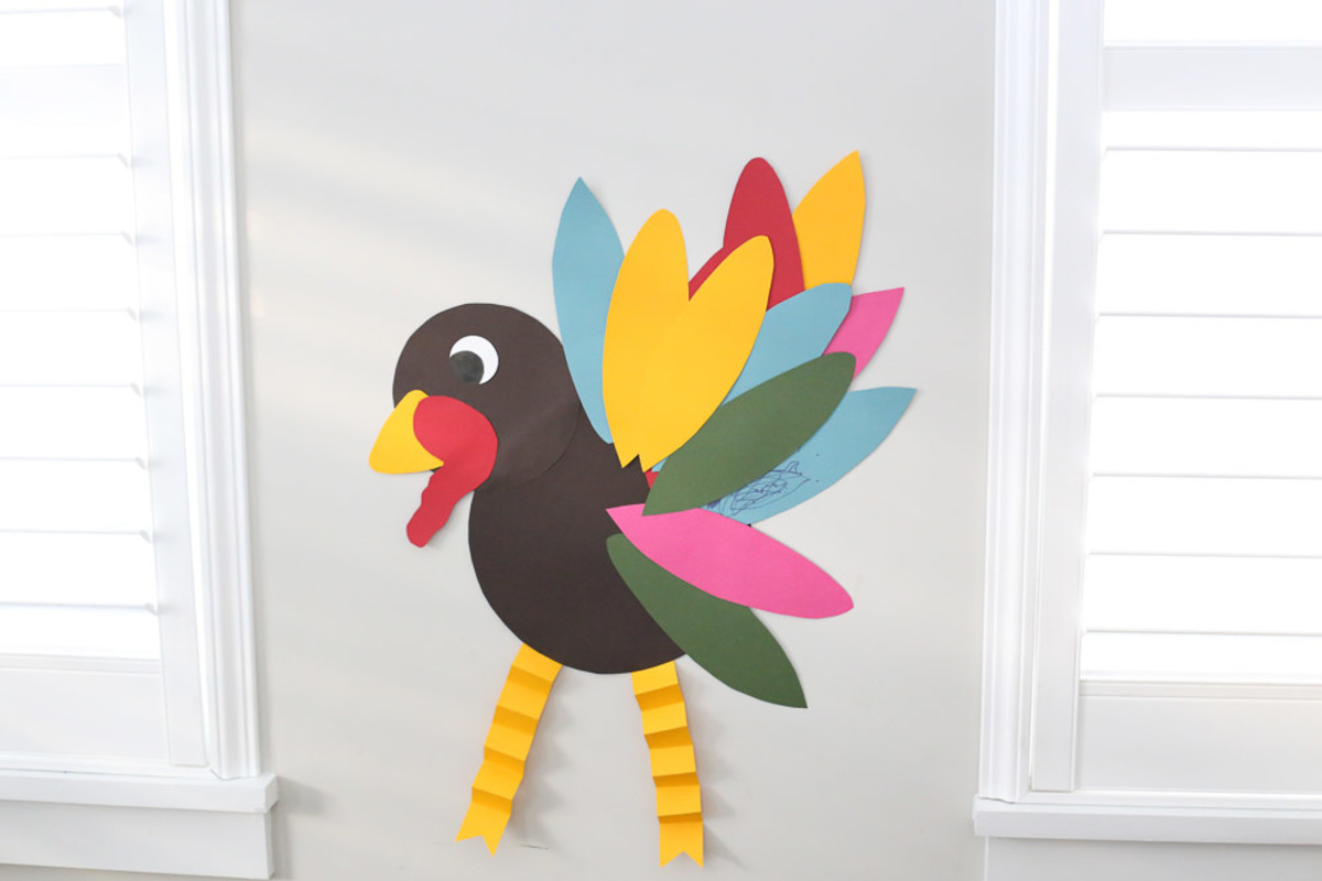 """This autumn spin on the classic """"pin the tail on the donkey"""" parlor game is easy to set up and fun to play."""