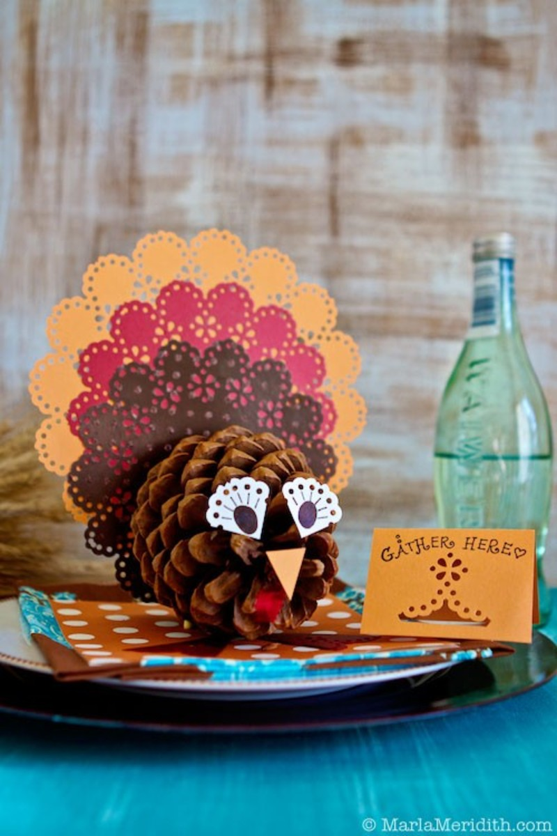 This pinecone turkey craft takes some effort to make, but the end-result is well worth the work.