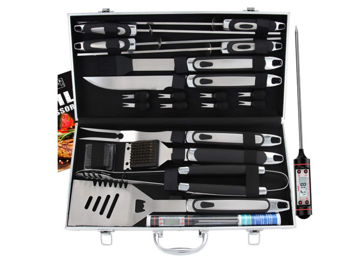 This bbq set is a great high-impact gift for an older man
